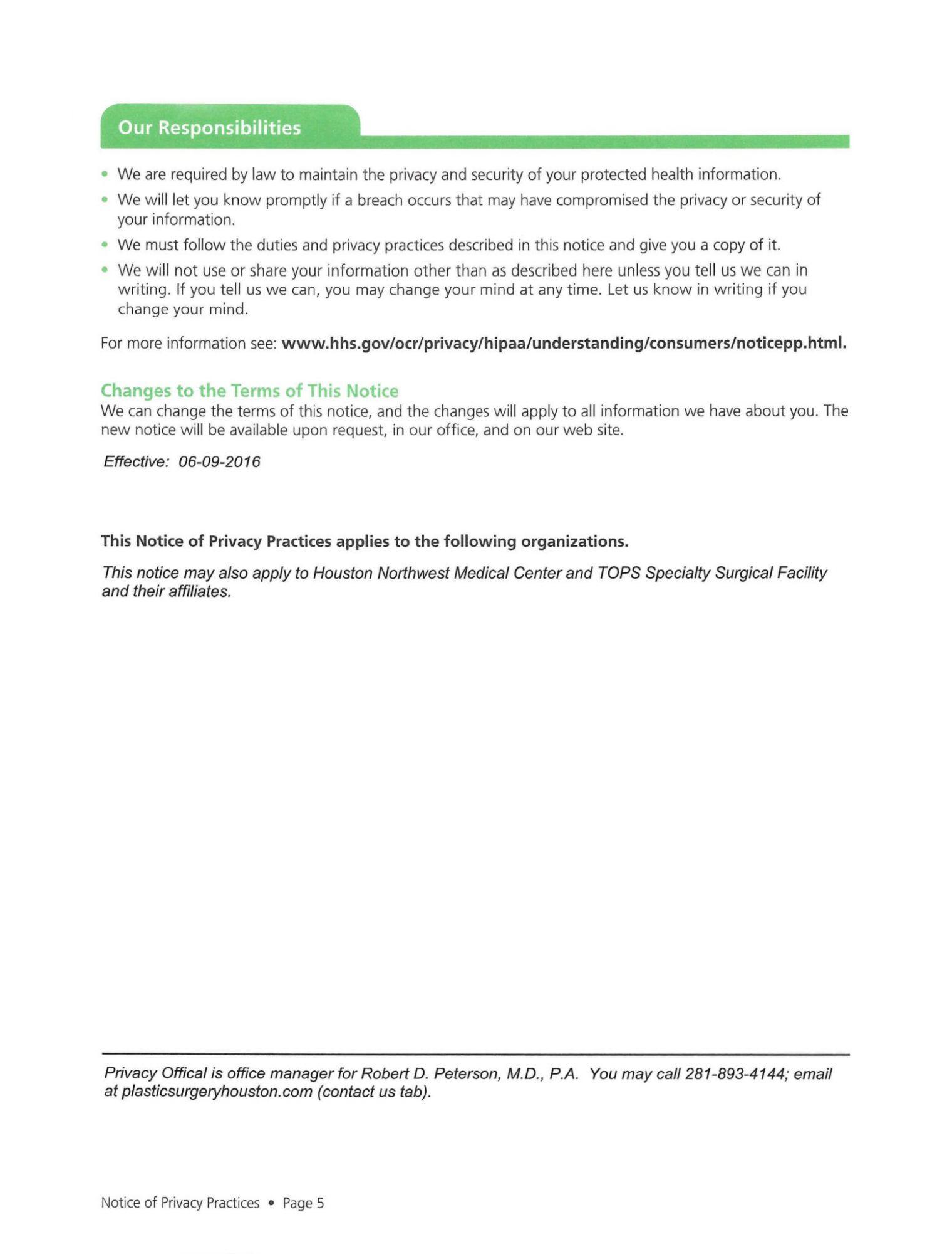Dr Peterson Website Form 5
